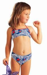 Dvoudílné plavky - top se zavazováním za krkem - zvětšit obrázek