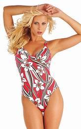 Jednodílné plavky s kosticemi - zvětšit obrázek