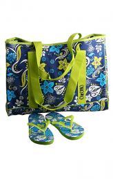 Plážová taška + žabky  - zvětšit obrázek